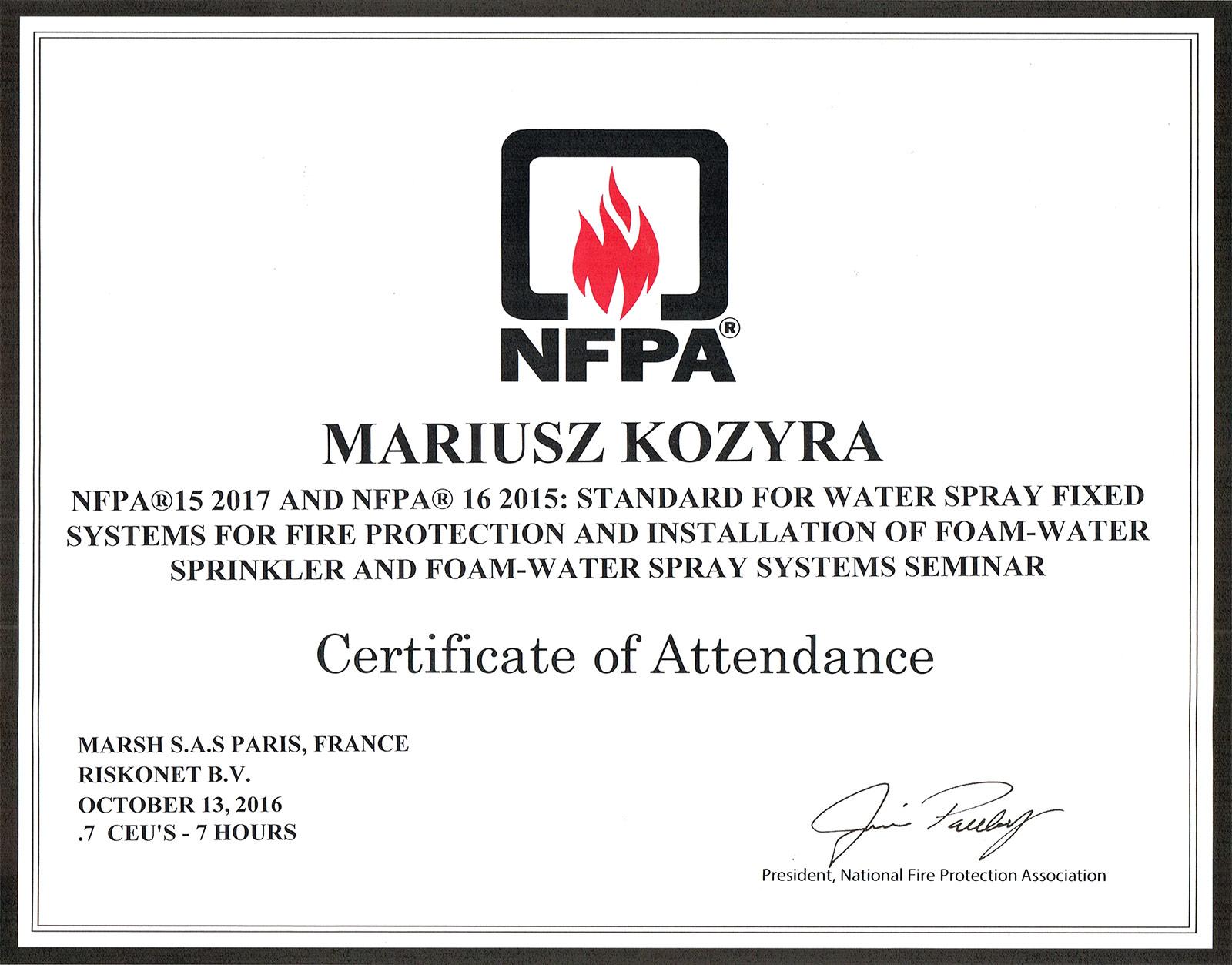 certyfikaty_nfpa15-2017_nfpa16_2015_mariusz-kozyra